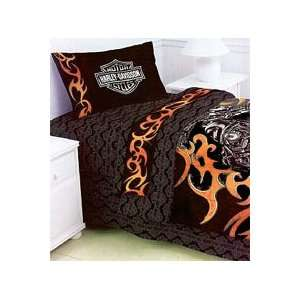 Harley Davidson Motorcycles   4pc Bed In A Bag Set   Twin