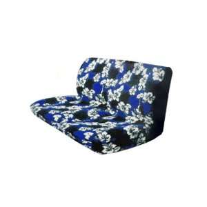 Bench Seat Cover   Blue Hawaii Hibiscus Floral Print