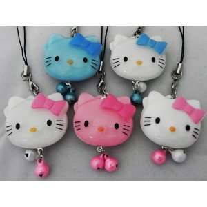 Hello Kitty Straps, Charms, Keychains, Acrylic, a Set of 5