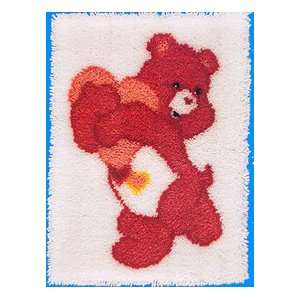 Care Bear Latch Hook Kit 20 Inch X27 Inch  Love A Lot Bear