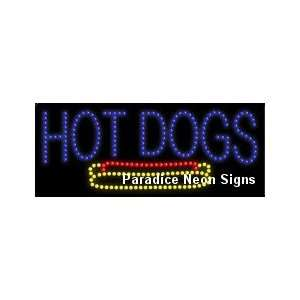 Hot Dogs LED Sign 11 x 27: Sports & Outdoors