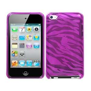 Zebra Hot Pink TPU Candy Soft Rubber Skin Case Cover for