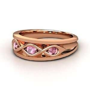 , 14K Rose Gold Ring with Pink Tourmaline & Rhodolite Garnet Jewelry