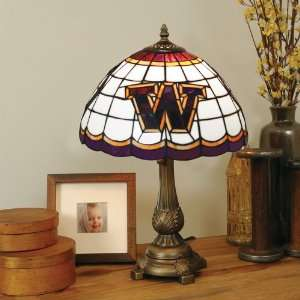 University of Washington Stained Glass Table Lamp