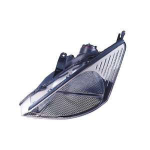 2000 2002 Ford Focus LED Halo Projector Headlights (Black) Automotive