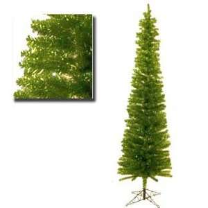 Lime Green Pencil Tinsel Artificial Christmas Tree