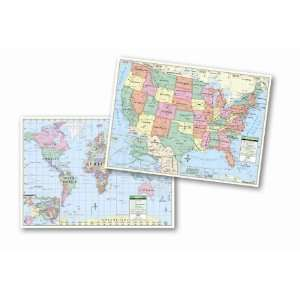 United States/World Primary Map Set Toys & Games