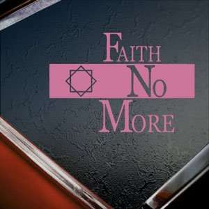 Faith No More Pink Decal Metal Rock Band Window Pink
