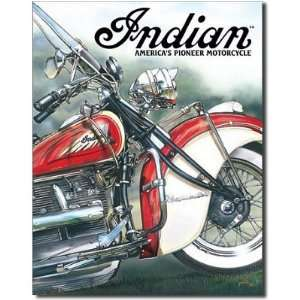 Indian Americas Pioneer Motorcycles Tin Sign