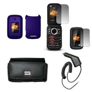 Protector + Car Charger (CLA) for Motorola Rambler WX400 Electronics