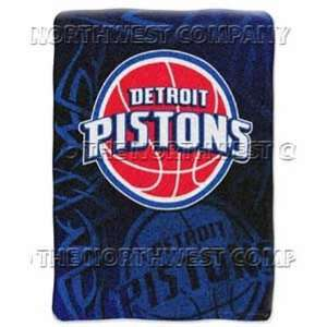 NBA 60 x 80 Super Plush Throw   Detroit Pistons   Detroit Pistons