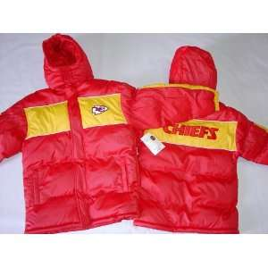 City Chiefs   Logo Kids Hooded NFL Bubble Jacket