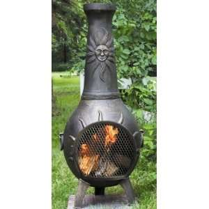 Outdoor Fireplace in Gold Accent   Liquid: Patio, Lawn & Garden