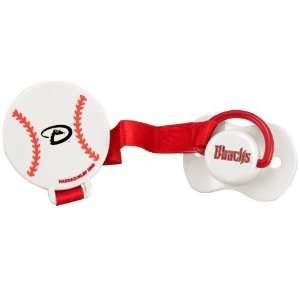 MLB Arizona Diamondbacks Pacifier with Clip  Sports