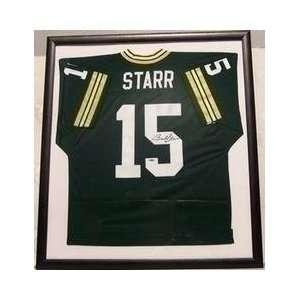 Bart Starr Framed Signed Home Packer Throwback Jersey