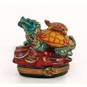 Dragon with Turtle French Limoges Box