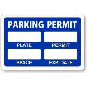 Blue Parking Permi for Inside of Car Window, wih Wrie