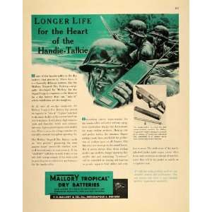 Handie Talkie Walkie Talkie   Original Print Ad: Home & Kitchen