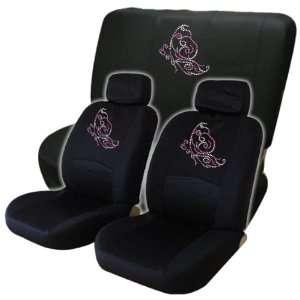 Pink Butterfly Low Back Seat Covers with Bench Cover Gem