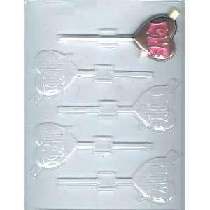 Love Heart With Arrow Pop Candy Mold