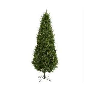 9 Pre Lit Cedar Fir Artificial Christmas Tree   Clear