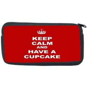Cupcake   Red Neoprene Pencil Case   pencilcase   Ipod Case   PSP