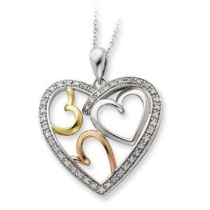 Rose & Gold plated The Bond of Love 18 Inches Heart Necklace Vishal