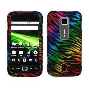 Black Rainbow Zebra Rubber Coating Hard Case Cover