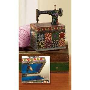 Jim Shore Heartwood creek Sewing Machine hinged box