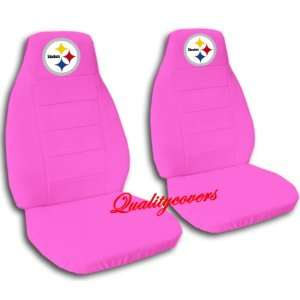 Hot Pink Pittsburgh seat covers for a 2007 to 2012 Chevrolet Silverado