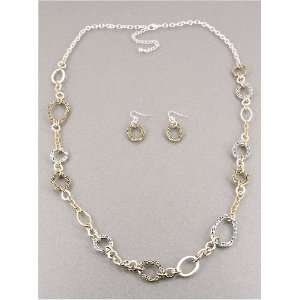 Fashion Jewelry Desinger Inspired Silver and Gold Necklace