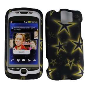 Yellow Star Premium Designer Hard Protector Case For HTC MYTOUCH SLIDE