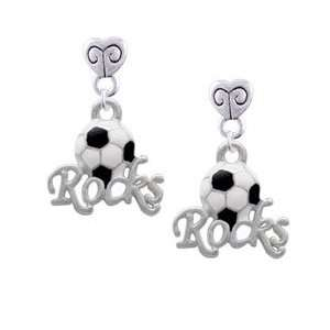 Rocks   Silver Plated Mini Heart Charm Earrings [Jewelry] Jewelry