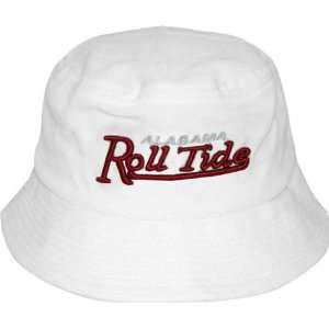 Alabama Crimson Tide White Bucket Hat