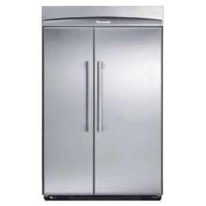 by Side Refrigerator   Stainless Steel / Masterpiece Handl Appliances