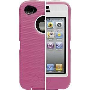 Otterbox Defender Series Apple Iphone 4G White/Hot Pink