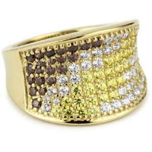 MYIA PASSIELLO Pave Colors Swarovski Zirconia Saddle Ring, Size 8