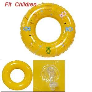 Child Bear Print Yellow Floating Inflatable Swim Ring Toys & Games