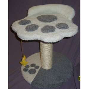 Paw Print cat scratching post, bed, toy
