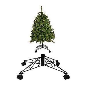 Black Metal Tree Stand with Wheels