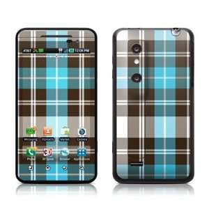 Turquoise Plaid Design Protective Skin Decal Sticker for