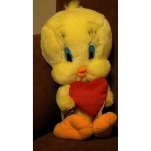 Looney Tunes Tweety Bird Plush with Red Heart: Toys & Games
