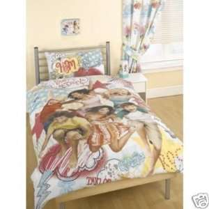 DISNEY HIGH SCHOOL MUSICAL 2 STAR DAZZLE TWIN BED DUVET/QUILT COVER