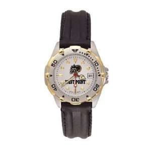 Us Military Academy All Star Ladies Black Leather Strap Watch