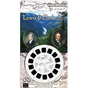 View Master 3D 3 Reel Card Lewis & Clark Set #3 Toys