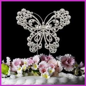 Sparkling Crystal Butterfly Wedding Cake Topper