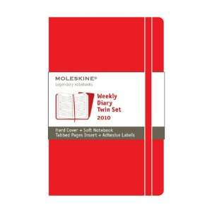 Moleskine Weekly Planner   2010 12 Month Twin Set   Red
