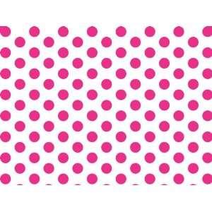 Brand New Hot Pink & White Polka Dot Tissue Paper   20 x 30   24 XL