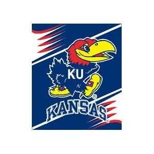 Kansas Jayhawks 50x60 Royal Plush Blanket Throw