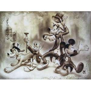 Top Hat N Tails   Disney Fine Art Giclee by Noah: Home
